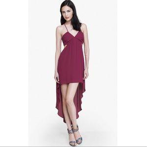 Express Fuchsia Hi-Lo Side Cutout Maxi Dress